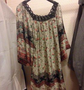 Платье новое из искусственного шёлка 46 (eur 40)