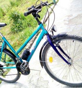 Велосипед с переключением передач.