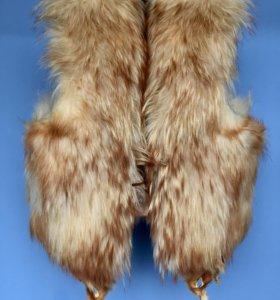Жилетка меховая лисья