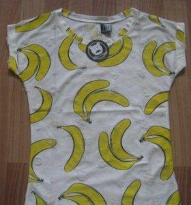 Футболка с принтом банана