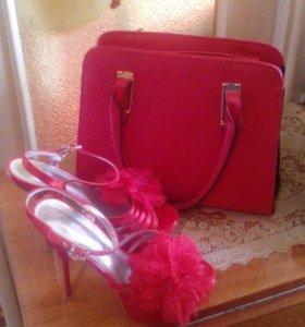 Бассаножки с сумкой,туфли и ажурный плащ
