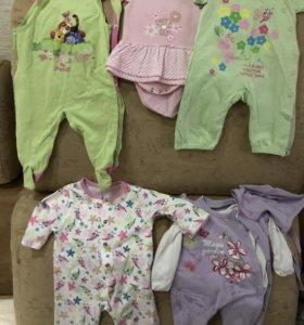 Детские вещи для новорождённой девочки