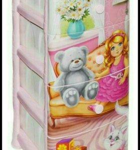 Комод ящик детский для игрушек -кукла-
