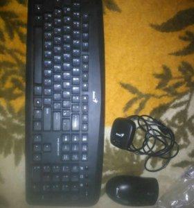 Беспроводная клавиатура/мышь+клавиатура