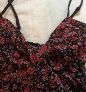 Милое сетчатое платье