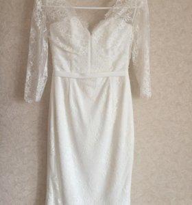 Свадебное или вечернее кружевное платье