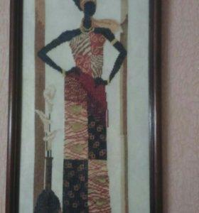 """Картина крестом """"Этническая Африка"""""""