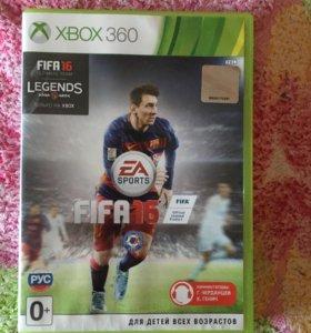 Диск на xbox360 FIFA 16