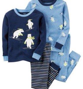 Carters новый комплект пижам 12м