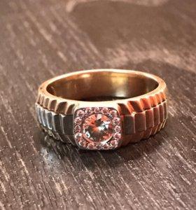 Золотое кольцо Rolex печатка с бриллиантами