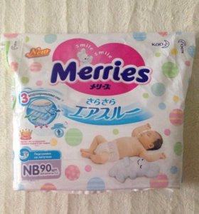 Подгузники Merries NB 47шт