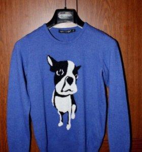 Новый Шерстяной свитер xs