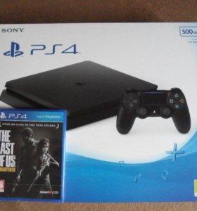 Sony PlayStation 4 slim 500г. + игры