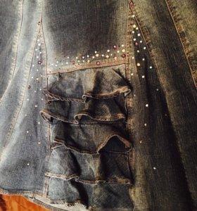 Юбочка джинс