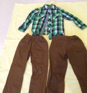 Комплект брюки+рубашки для двойни.