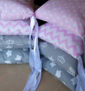 Бортики в кроватку,кокон для новорожденного ...