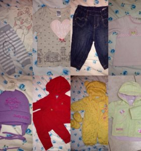 Одежда на девочку 68-74
