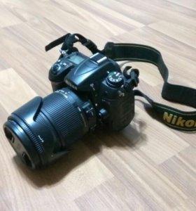 ЗеркалкаNikon D7000+объектив Sigma DC 18-250+сумка