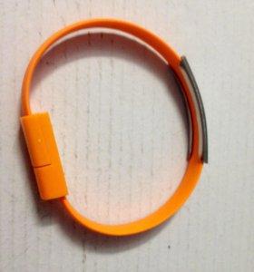 Браслет-кабель micro USB зарядка