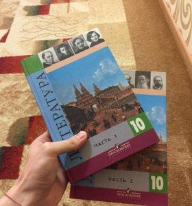 Учебники по литературе 10 класс 2 части