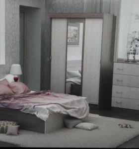 Спальня Бася (шкаф+комод+кровать+2тумбы)