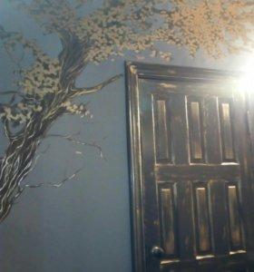 Роспись стен, услуги художника
