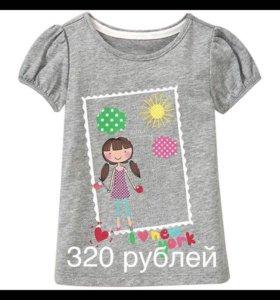 Детская новая футболка, на возраст 2-2,5 года