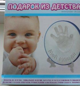 Слепок ручки малыша своими руками