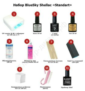 Набор Bluesky Shellac
