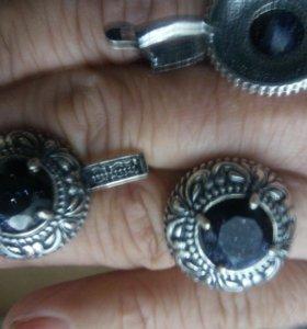 Комплект серьги английский замок,кольцо