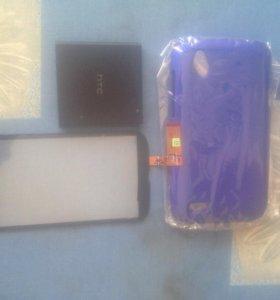 Тачскрин, бампер, батарея для HTC Desire V