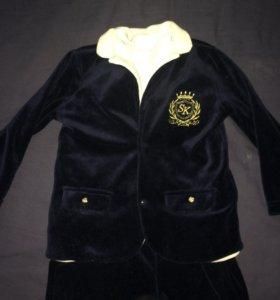 Костюм тройка: полукомбинезон , водолазка , пиджак