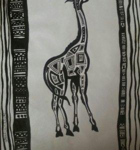 Жираф в этническом стиле
