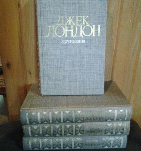 Джек Лондон собрание сочинения из 4 томов 1984г
