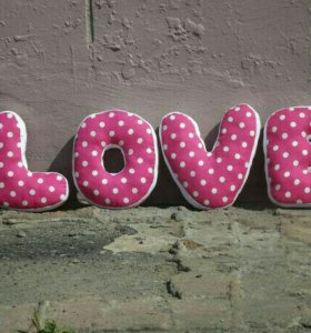 Буквы - подушки