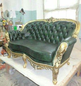 Перетяжка мягкой мебели,  изготовление мебели