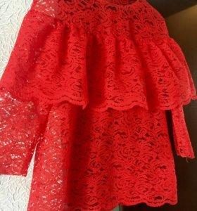 Дизайнерская блуза из кружева