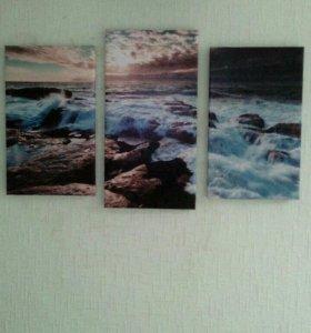 Картина модульная море.