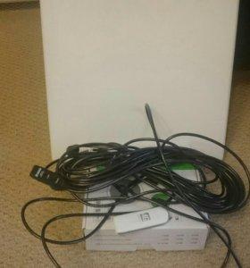 Антена, 4g модем и 20 метров USB