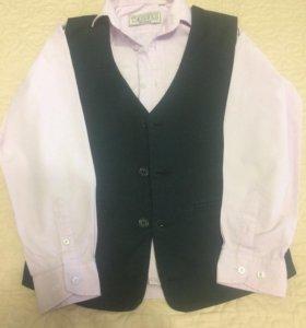 Рубашка школьная и жилет150 р и 300 р соответствен