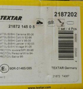 Колодки тормозные Textar 2187202