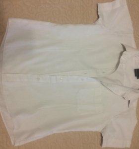 Рубашка школьная сикоротким рукавом