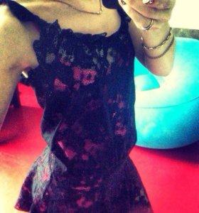 Платье кружево и тонкое платье под низ