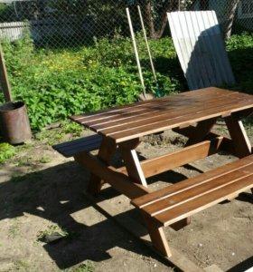 Комплекты столов с лавками для дачи и отдыха.