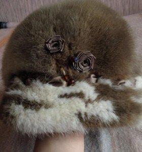 Тёплая шапка из натурального меха норки