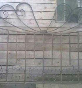 Кованый забор и др. изделия из металла под заказ .