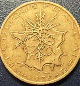 Монета Франции, 10 франков 1978