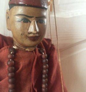 Кукла Монах из Мьянмы на веревочках