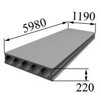Плита перекрытия 1ПК60.12-8
