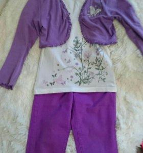 Комплект одежды на девочку, размер 122 -128